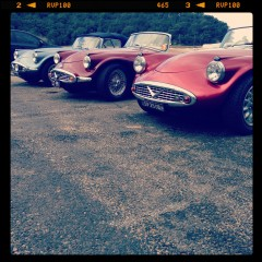Daimler SP250 sports cars in Patonga