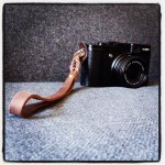 FujiFilm X20 with Kobe Bull leather wrist strap